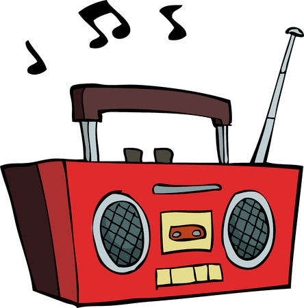 30146659 - boombox on a white background illustration