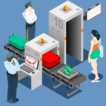 38610735 - isometric security checkpoint machine