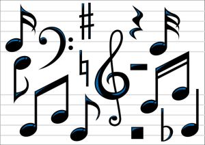 3419221 - abstract vector illustration of music notes