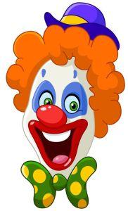 19754645 - clown face
